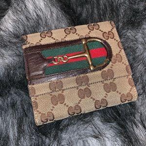 Authentic Gucci Hosebit Sherry Line wallet
